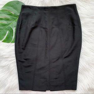 Tomaso Stefanelli Black Tapered Pencil skirt